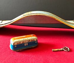 Vintage 1950s Marx Tin Wind Up Working Alps Train/coaster W/key Lithographed