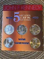 5 Decades Of Jfk Half Dollars Us Coins Procured By The American Historic Society