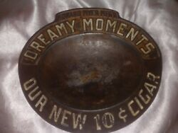 Antique Early 1900s Brunhoff Manufacturing Co Cast Iron Ashtray Howard Myer