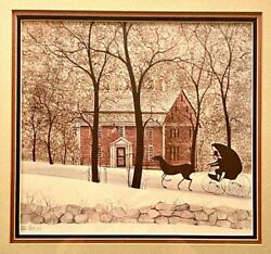 P Buckley Moss 'wayside Inn', This Print Is Sold Out Rare