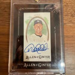Used 2017 Mlb Topps Allen And Ginter Derek Jeter Autograph Trading Cards
