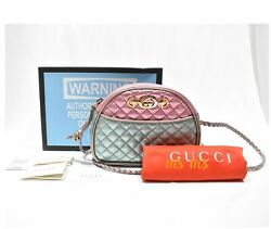 Nwt Trapuntata Colorblock Metallic Leather Quilted Mini Bag Crossbody