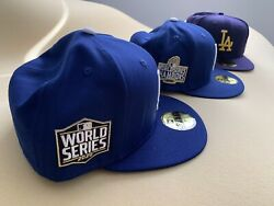 New Era 59fifty 2020 Los Angeles Dodgers Lakers Champions 3 Hat Collection 7 1/2