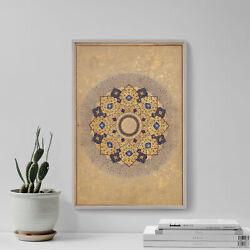 Rosette Bearing The Names And Titles Of Shah Jahan - Painting Poster Art Print