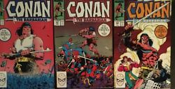 Conan The Barbarian 206 207 208 The Heku Trilogy Complete Marvel 1988 Lot