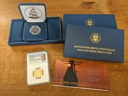 2020 400th Mayflower Anniversary 10 Gold Reverse Proof Coin 20xc Ngc Pf70