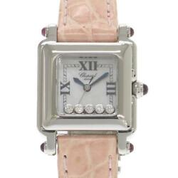 Chopard Happy Sports Square 27/8892 Stainless Ladies Watch From Japan [b0329]