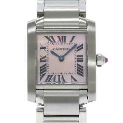 Tank Francaise Sm W51028q3 Stainless Ladies Watch From Japan [b0329]