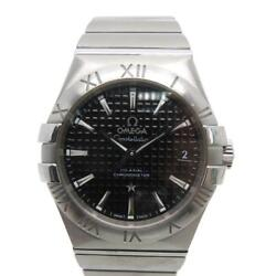 Auth Omega Constellation Co-axial Chronometer 35 Watch Stainless Steel 1204