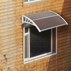 Window Canopy Awning Polycarbonate Front Door Patio Outdoor Cover Uv Protected