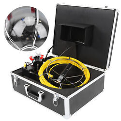 7in 98.4ft Drain Endoscope System Industrial Sewer Camera Dvr Record Photo 32gb