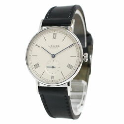 Wrist Watch Nomos Ld1a2w1 Used Unisex Adult Black Silver White Germany