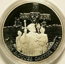 1984 Canada 1 Dollar Proof Jacques In Capsule 7164