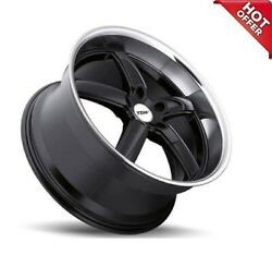 Fits 4ea 19x8/19x9.5 New Staggered Tsw Wheels Stowe Gloss Black Rims 19 S12