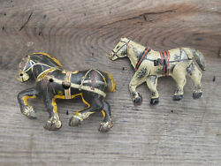 Antique Marx Tin Toy Litho Horses Milk Cart And Horse And Wagon Wind Up 5