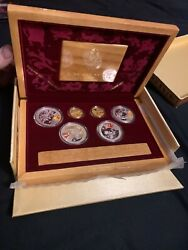 2008 Bejiing Olympic Commemorative Gold And Silver Series Coin Set