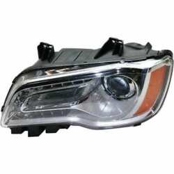 Headlight For Chrysler 300 2011-2014 Driver Side Oe Replacement Halogen W/bulbs