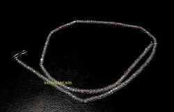 18 Strand Necklace White Zircon 3 Mm Round Beads 925 Sterling Silver Tp0151