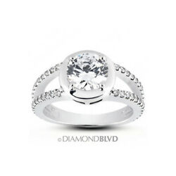 1.45ct Tw G/vs2 Round Cut Natural Certified Diamonds 18k Gold Halo Accent Ring