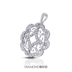 1ct Tw F Vs2 Round Cut Natural Earth Mined Certified Diamonds 18k Gold Pendant