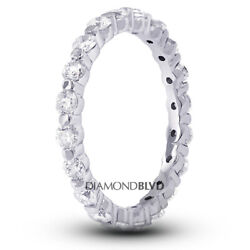 3 1/2ct Tw I Si2 Round Natural Certified Diamonds 14k Gold Classic Eternity Band
