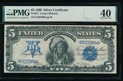 Ac Fr 271 1899 5 Silver Certificate Pmg 40 Chief Note
