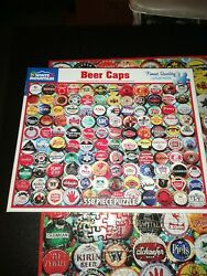 White Mountain Beer Bottle Caps 550 Piece Jigsaw Puzzle Brand New Sealed