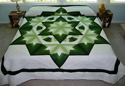 Amish Handmade Quilt For Sale Chrysler Star Amish Quilt King Or Queen Quilt