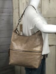 HOBO INTERNATIONAL Tan Distressed Leather Shoulder Bag Handbag EUC $69.95
