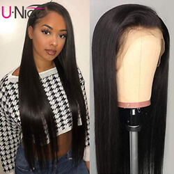 Unice 13x4 Straight Lace Front Human Hair Wigs Malaysian Hair Wig Pre Plucked Us