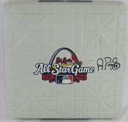 Albert Pujols Signed 2009 All-star Game Base St. Louis Cardinals Uda Used/issued