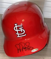 Albert Pujols Uda Signed St. Louis Cardinals Full Size Helmet Mike Trout Ohtani