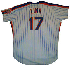 Jose Lima Game Used/worn/issued 1986 Throwback Jersey New York Mets Steiner L@@k