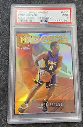 2001-02 Topps Chrome Mg6 Kobe Bryant Mad Game Refractor Sp Psa 9 Lakers