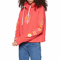 Oand039neill Cali Oh Graphic Womens Hoody - Hot Coral All Sizes