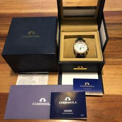 Citizen Cty57-1072 Box Campanola Eco-drive Solar Mens Watch Authentic Working