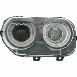 Headlight For Dodge Challenger 15-18 Driver Side Oe Replacement Halogen W/bulbs