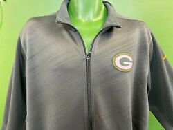 W502/490 Nfl Green Bay Packers Nike Dri-fit Full Zip Jacket Menand039s Large