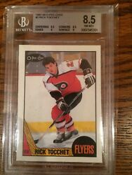 1987 87-88 Opc O-pee-chee 2 Rick Tocchet Rc Rookie Bgs 8.5 With Two 9 Subs