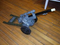 Vintage Louis Marx And Co. Plastic And Metal Toy Cannon 28 Long, Vgc, With 1 Dart