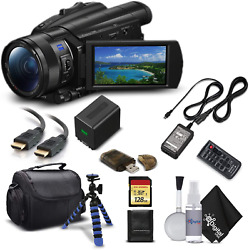 Sony Handycam Fdr-ax700 4k Hd Video Camera Camcorder With 128gb Memory Card + Ca