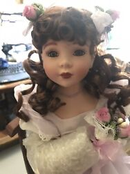 Show Stoppers Thoughtful Moments Musical Porcelain Dolls, Table, Chairs Damaged