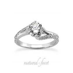 1.08ctw I Si3 Round Cut Earth Mined Certified Diamonds Platinum Accent Ring