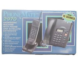 Phonemate 2970 Answering Machine With Phone And Satellite Extension - New