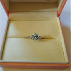 K.uno Eternal Lover Donald And Daisy Ring Size Japanese 10.5 K18 White Gold Topaz