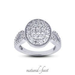 1.16ct E Vs1 Round Cut Earth Mined Certified Diamonds White Gold Right Hand Ring