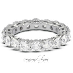 2 1/2ctw G Si1 Round Cut Earth Mined Certified Diamonds White Gold Eternity Ring