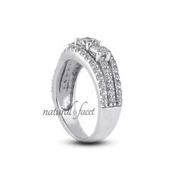 1.23ct G Si1 Round Natural Diamonds White Gold Vintage Style Engagement Ring