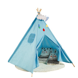 1.35m Large Kids Teepee Play Tent With Durable&quality Cotton Canvas