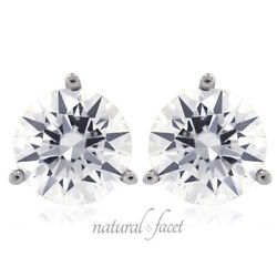 0.75ctw F Si1 Round Cut Earth Mined Certified Diamonds White Gold Stud Earrings